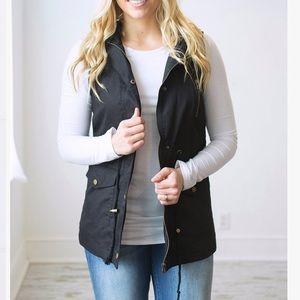 Black Cargo Vest